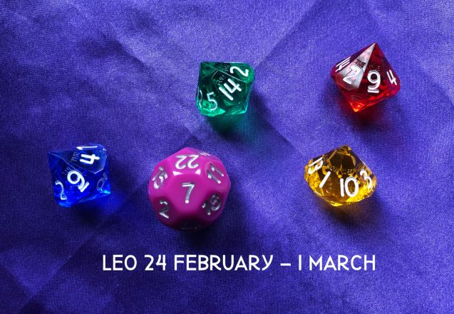 Week Ahead Dice Tarotscopes Leo 24 Feb