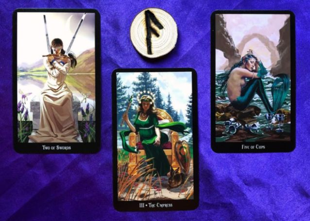 Pile 2 week ahead pick-a-pile rune and tarot reading 17 feb