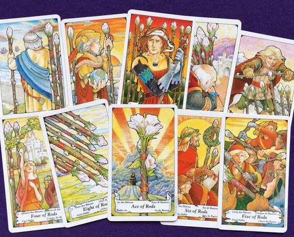 1-10 of Wands Tarot Card Meanings for Situation, Challenge, Opportunity and Action Advice