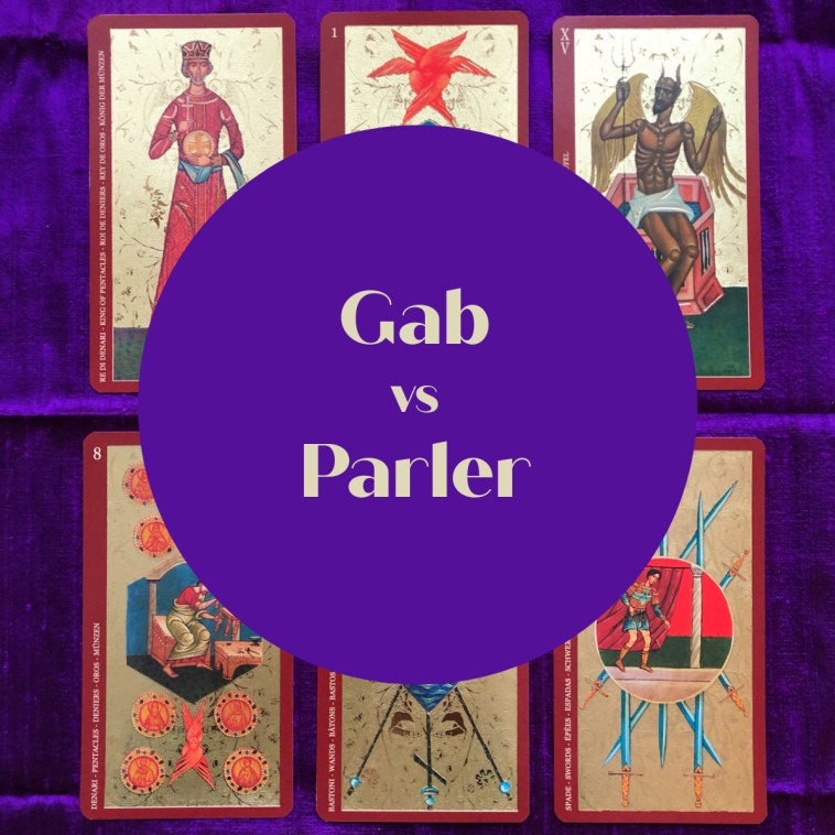 gab vs parler tarot reading