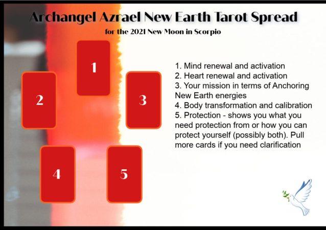Archangel Azrael New Earth Tarot Spread for the 2021 Full Moon in Scorpio