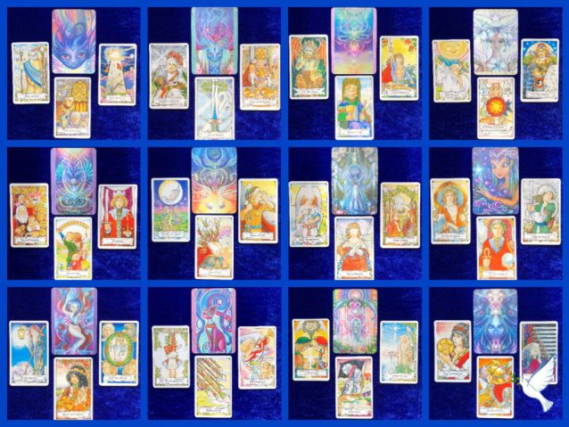 July Tarotscopes 2021 with the Beyond Lemuria Oracle and the Hanson Roberts Tarot