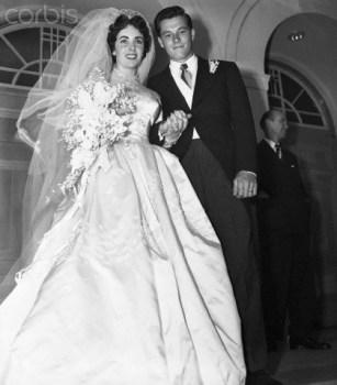 Liz Taylor and Conrad Hilton Jr., 1950. da/from www.corbis.com