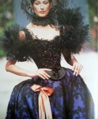 """Modello di Christian Lacroix / Model by Christian Lacroix Da/from """"Moda. Il secolo degli Stilisti"""" by Charlotte Seeling - 2000"""