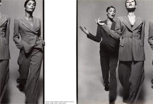 Photo by Michel Comte, 1995. Voge Italia, 1995.