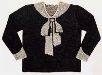 Maglione con fiocco Trompe-l'Oeil di Elsa Schiaparelli / Jampsuit with bow Trompe-l'Oeil by Elsa Schiaparelli.1927