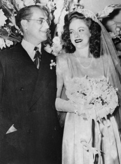 Portrait of Comedian Groucho Marx and Bride on Wedding Day, 1950. da/from www.corbis.com