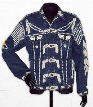 denim jacket by Levi Strauss customised by Vivienne Westwood