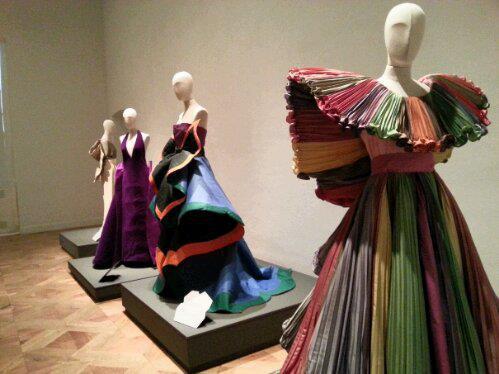 Capucci dresses displayed at Reggia of Venaria