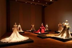 Wedding dresses displayed at Reggia of Venaria