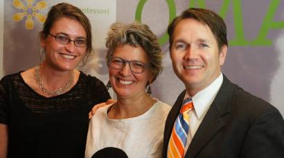 Krista, left, and Jack, right with their friend Marta Donahoe, co-founder of CMSTEP.