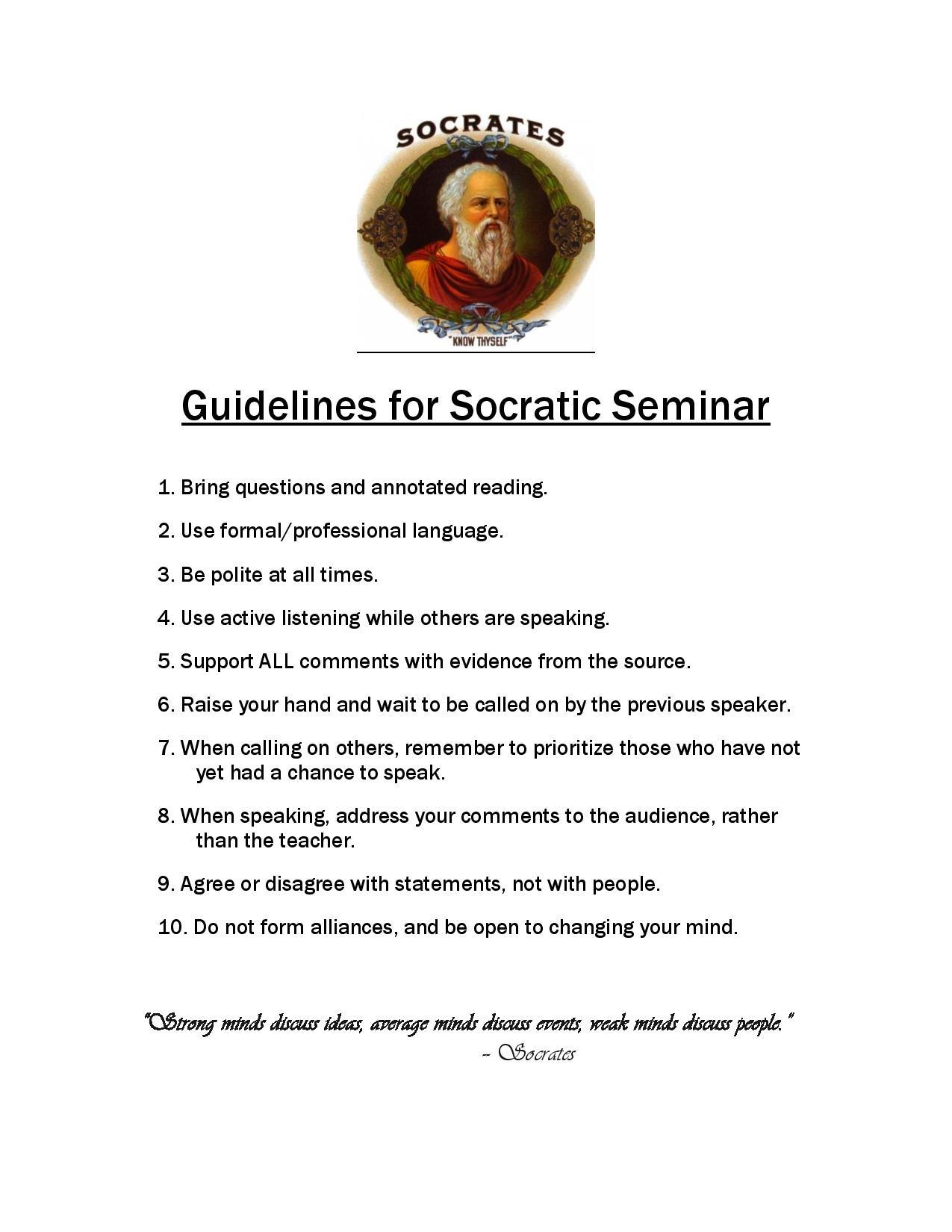 Socratic Seminar For Every Classroom