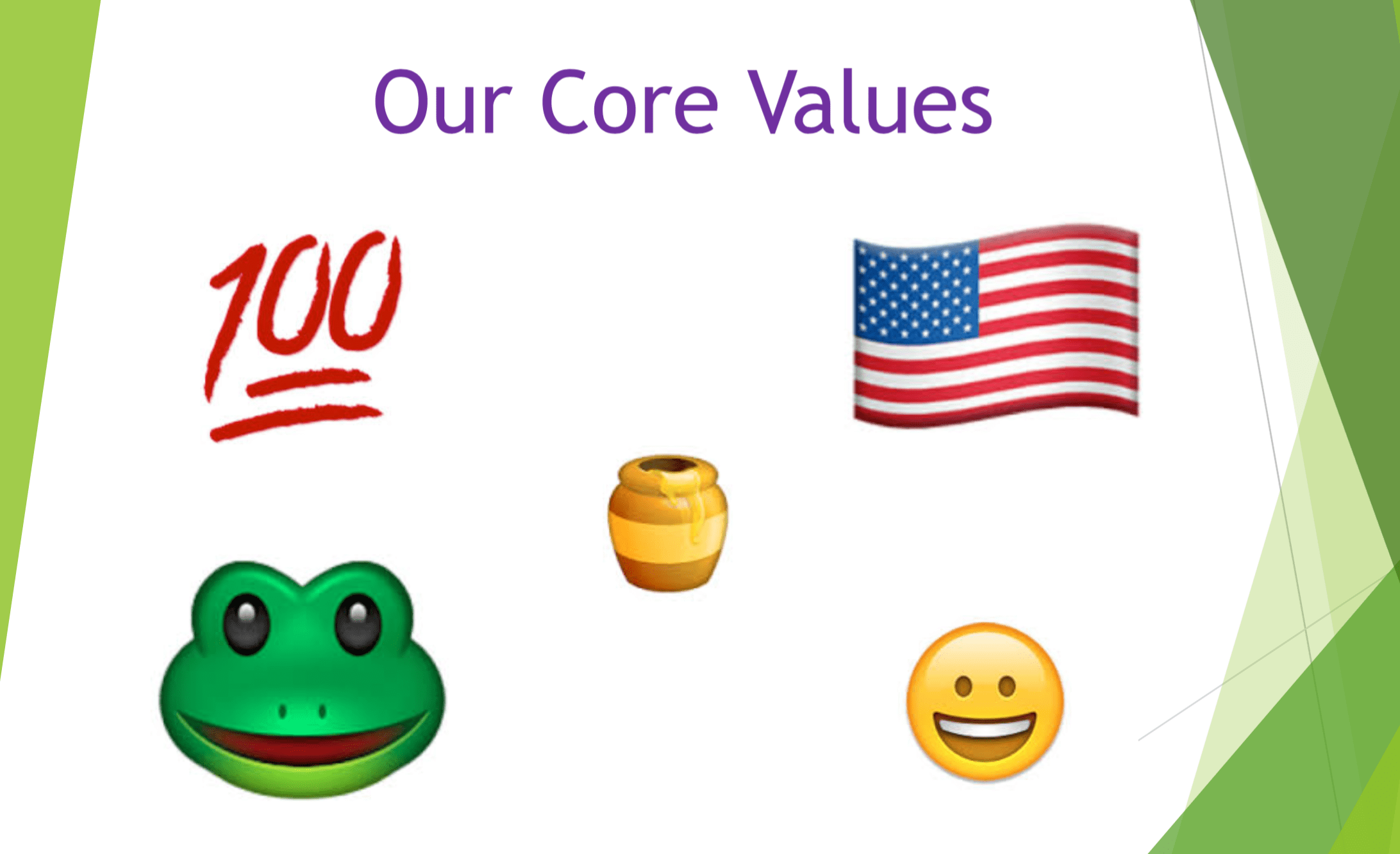 What are your core values? (You have them, right?)
