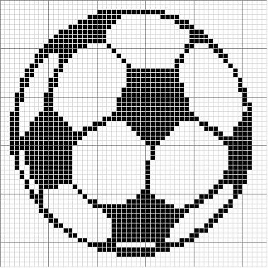 FILET CROCHET FOOTBALL PATTERN