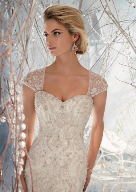 Morilee Style 1963 Elaborately Beaded Embroidery on Net 2
