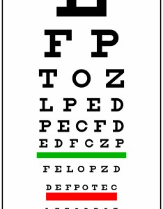 red eyechart also our services angels for sight rh angelsforsight