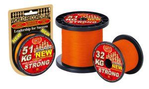 50m 0,32mm WFT KG STRONG 51 KG Orange Geflochtene Schnur – 1D-C 829-032