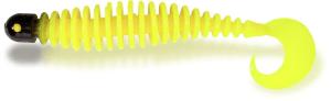 Black Cat Curly Worm 24g 17cm Yellow Zombie