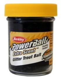 PowerBait Select Black Glitter Trout Bait  50g