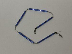 Trout-Flash BLAU Reflex-Glas-Feder-Kette