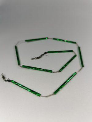 Trout-Flash GRÜN Reflex-Glas-Feder-Kette