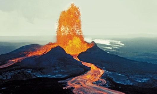 volcano and no boats