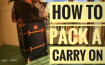 How to Pack a Carry On. Great gifts for the traveler