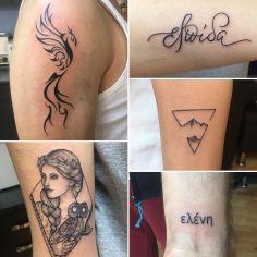 #phoenixtattoo #artemistattoo#triangletattoo#textattoo #intenzetattooink #tattoo…