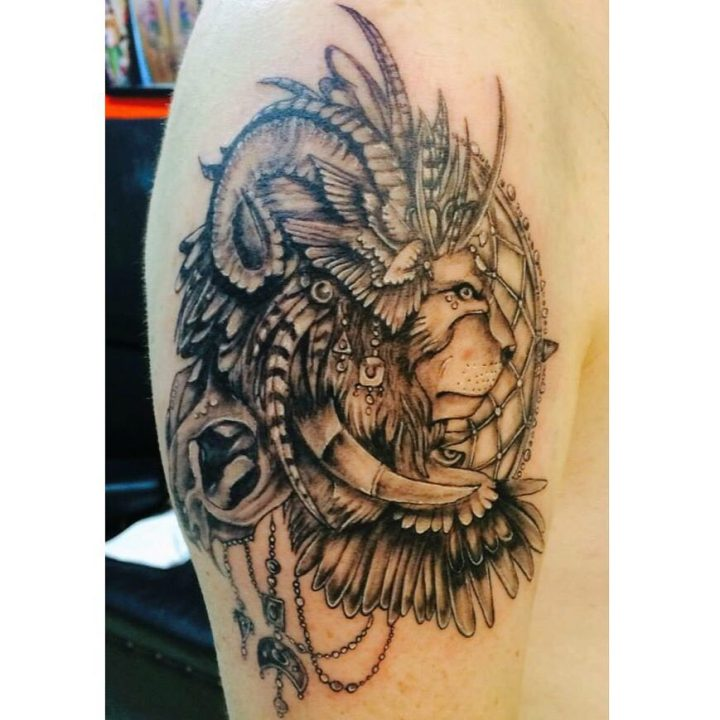 #illustration #tattoo #lion #eagle #wings #tattoo #dovme #dovmesanati #dövme #ta…