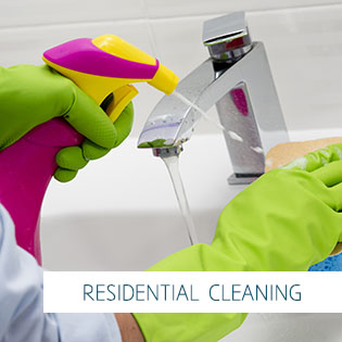 Cleaning - cleaning bathroom sink with spray detergent - housewo