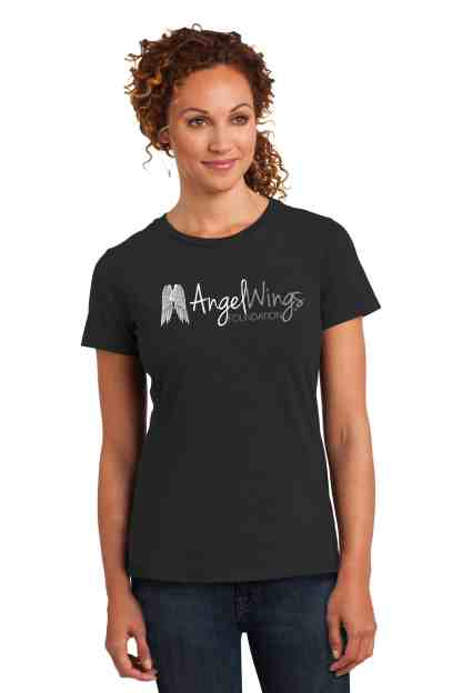 angel wings foundation crew neck t-shirt women