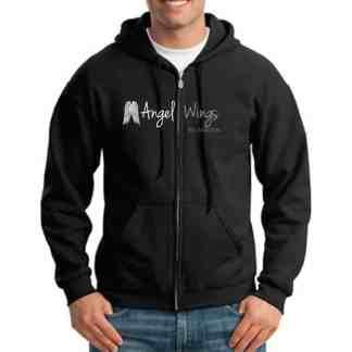 angel wings foundation full zip hoodie