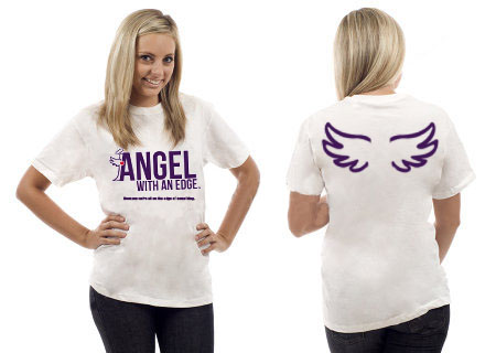 Angel with an Edge T-Shirt by Elizabeth Lindsay - Join the movement!