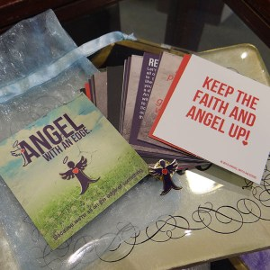 Angel with an Edge pin and Edgeism Inspiration Quotes card deck by Elizabeth Lindsay - Join the movement! #angelwithanedge