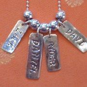 Token Tags sterling silver spacer beads