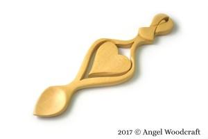 Guardian Angel Welsh Love Spoon