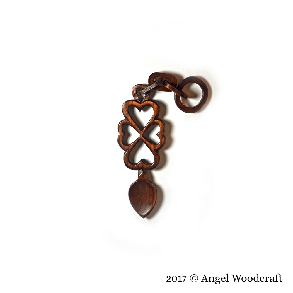 Linked with Love Welsh Love Spoon - 16 2