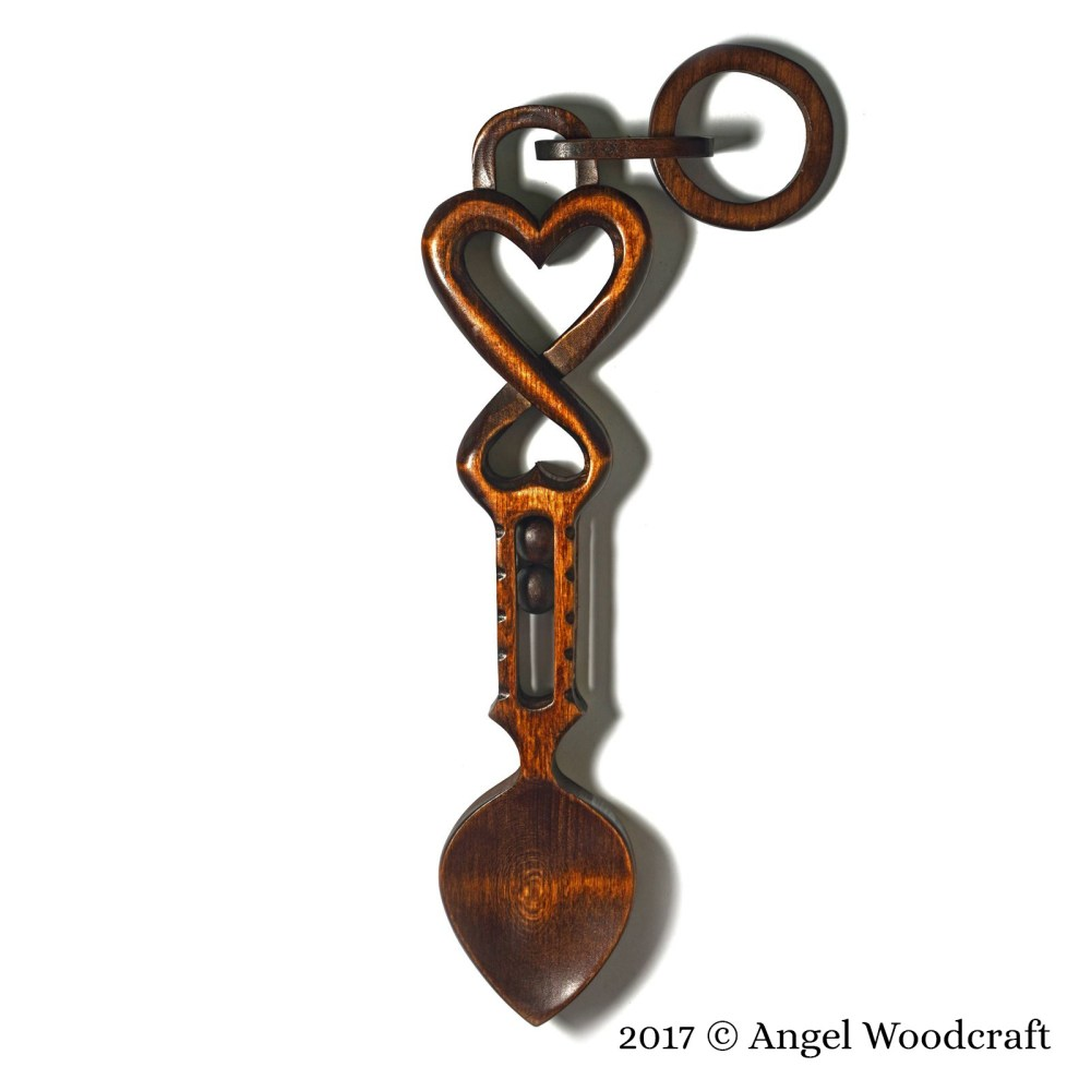 45 - Gift of Protection Welsh Love Spoon 2