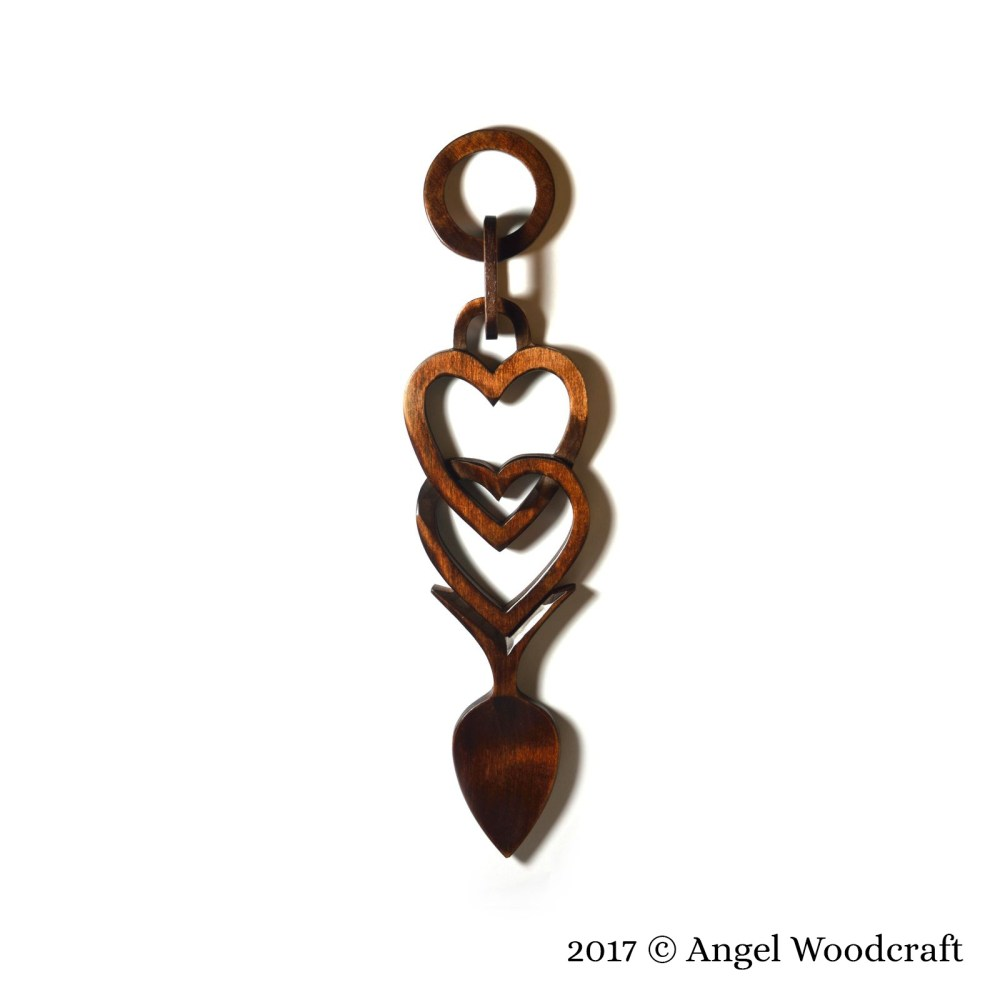 Connected Hearts Welsh Love Spoon - 49 2