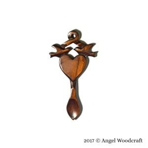 57 Lovebirds Entwined Welsh Love Spoon 2 1