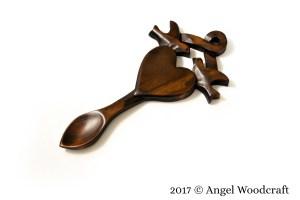 Lovebirds Entwined Welsh Love Spoon