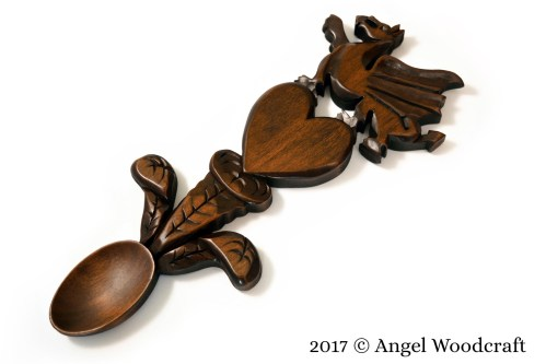 Welsh Dragon Welsh Love Spoon