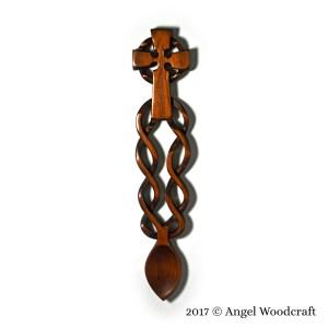 Celtic Cross Welsh Love Spoon