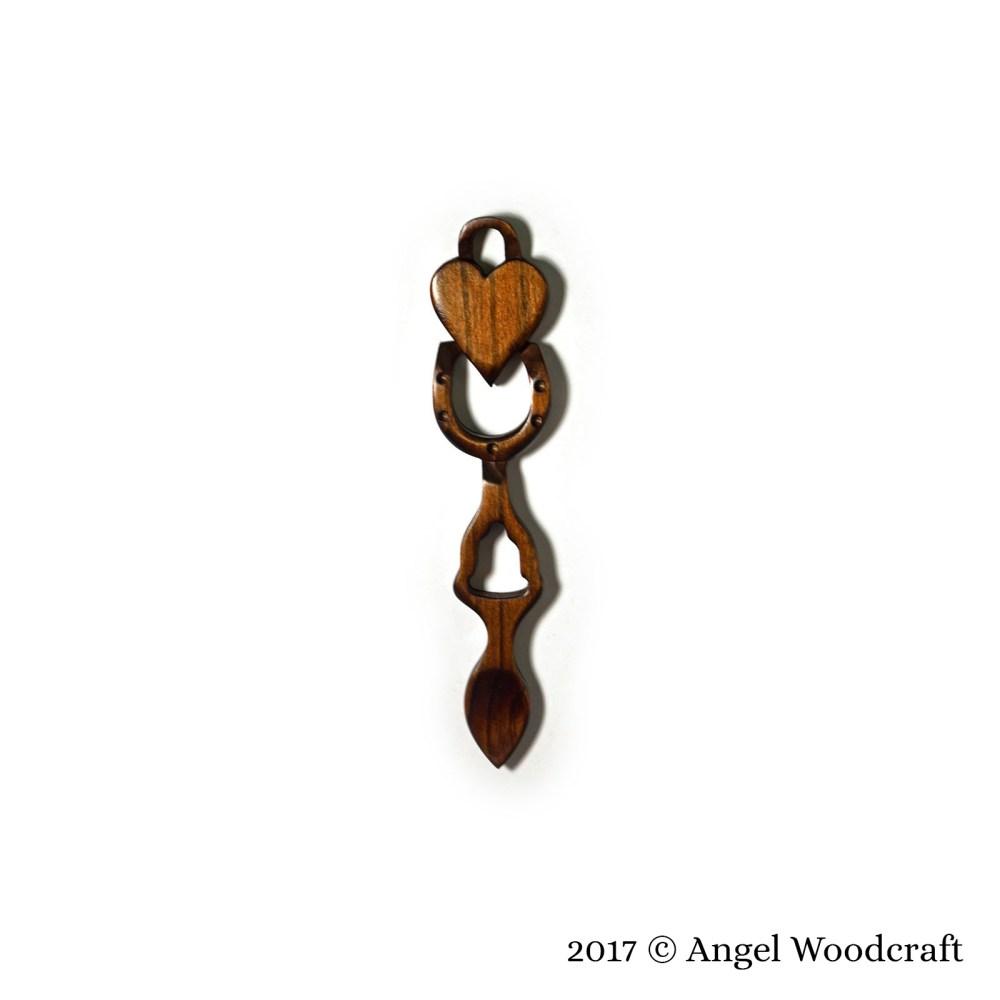 Bells of Love Welsh Love Spoon - 95 1