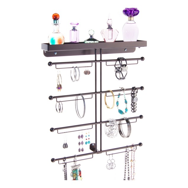 Wall Mount Jewelry Organizer - Carol Rubbed Bronze