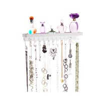 Wall Mount Necklace Holder - Schelon White