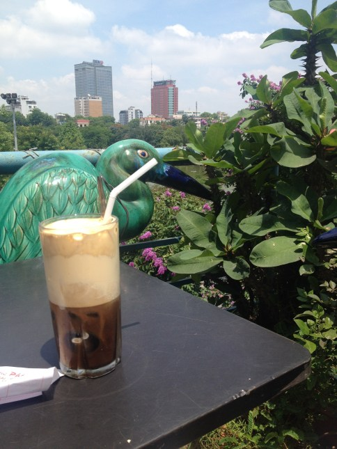 Iced egg coffee at the Hidden Cafe