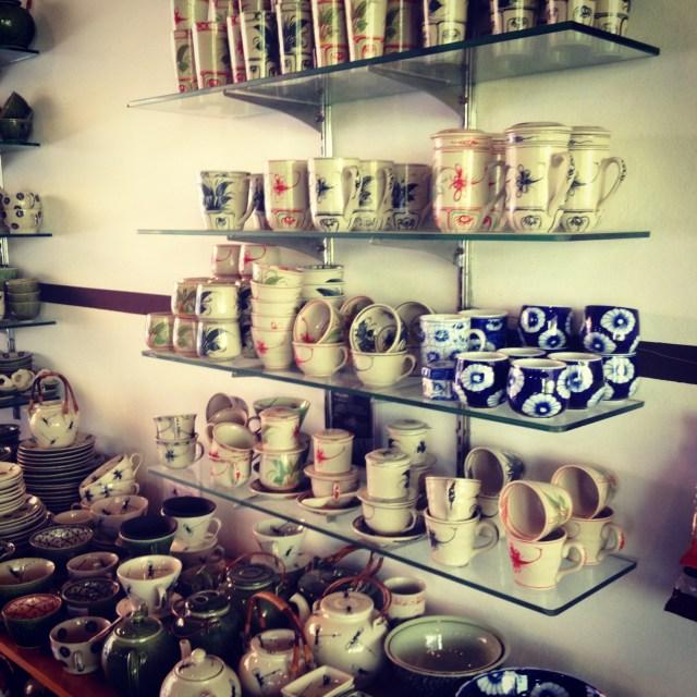 Beautiful pottery from Bat Trang at Oriberry