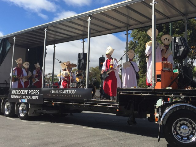 Best Musical Float - the Nine Popes from Charles Melton Wines