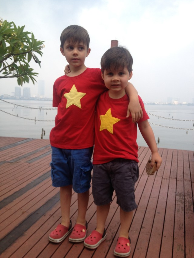 My boys on our last morning in Hanoi. Hard to believe they were only 2 years and 3.5 months when we arrived